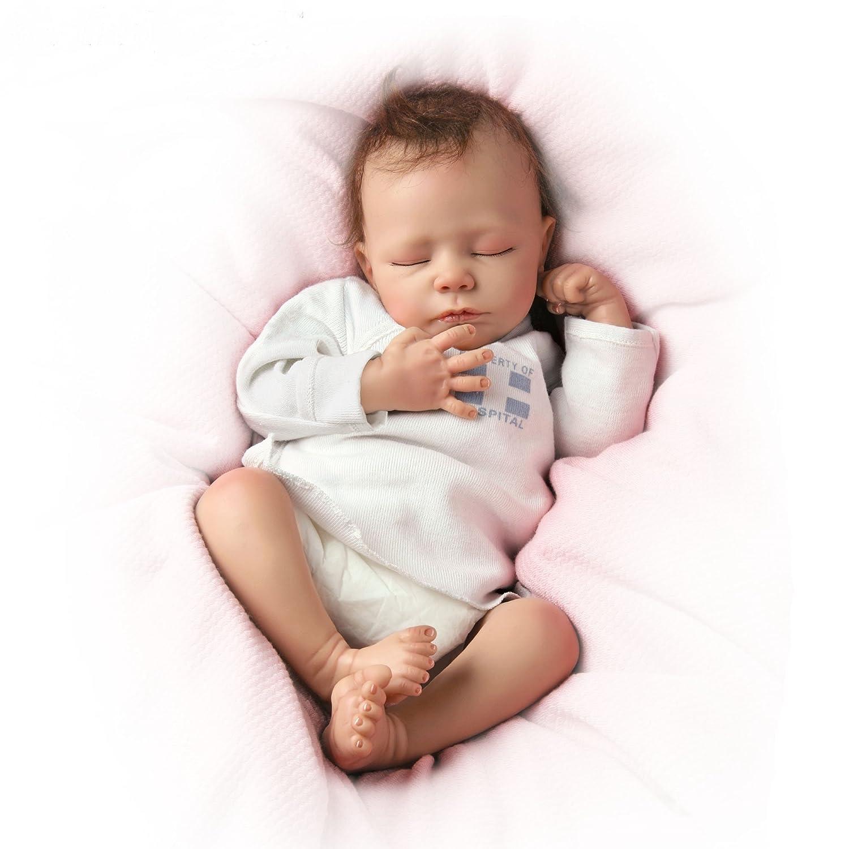 Ashton Drake - So Truly Real® Baby Girl Doll 'Ashley' - Breathing, Lifelike Doll with RealTouch™ Vinyl Skin