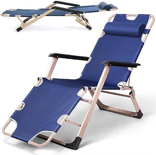 YOPEEN Tumbonas   Tumbona Reclinable Sun Beach Chair Piscina de Bronceado Plegable para Acampar al Aire Libre Blue, 1 Pack: Amazon.es: Jardín