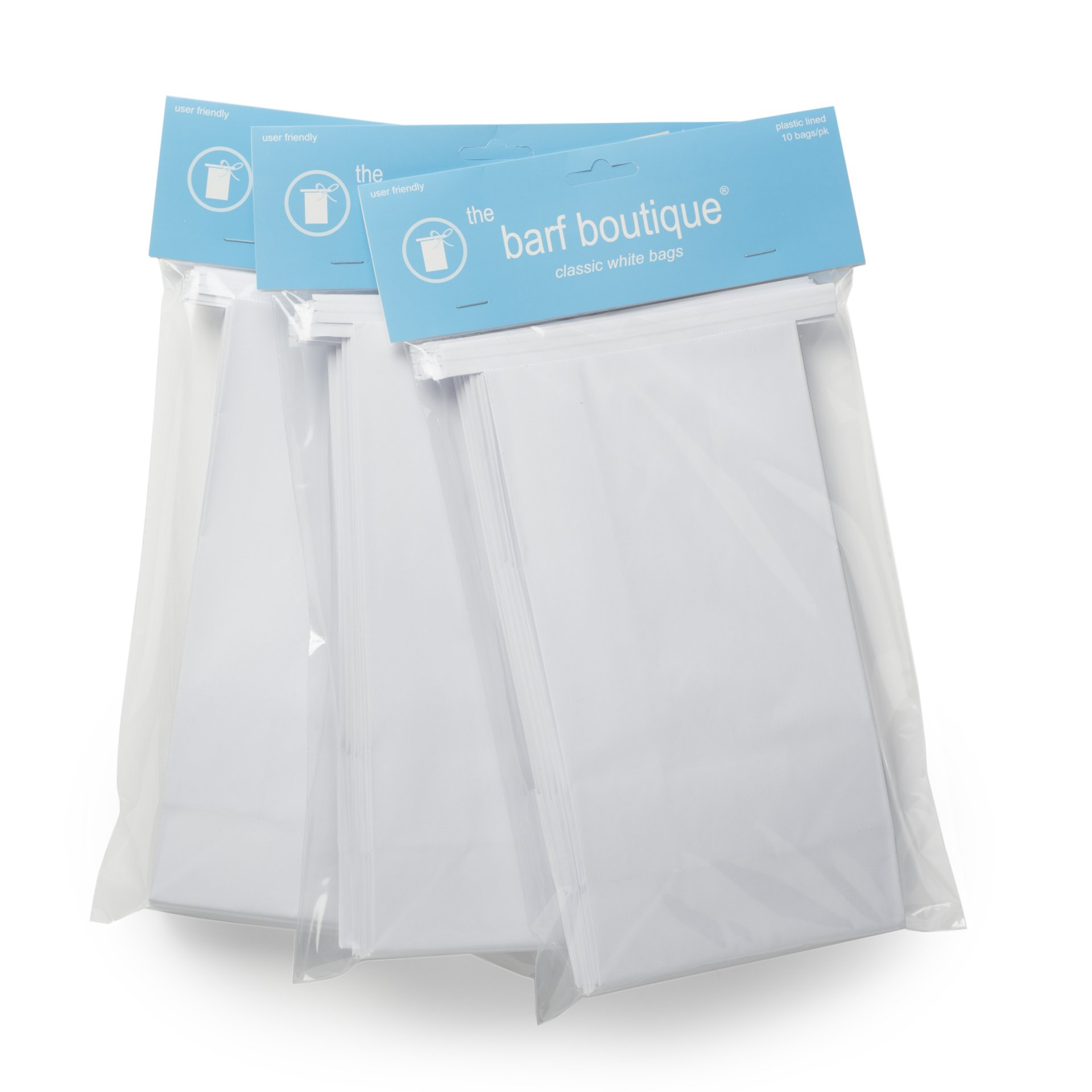 Classic White Vomit/Barf Bags - Travel Motion & Morning Sickness Bags (25/Pk) by The Barf Boutique (Image #2)