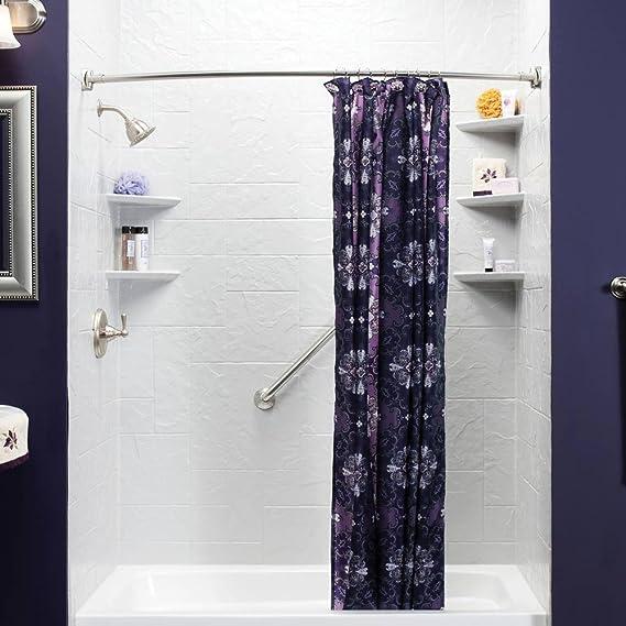 BEOKREU Curved Shower Curtain Rods Adjustable Rod Expandable 55 78inch