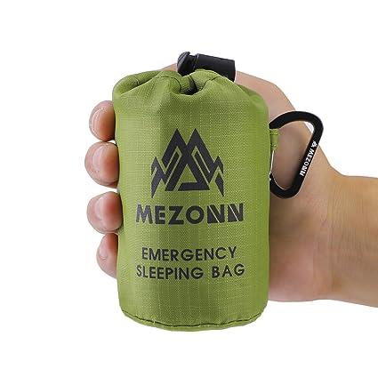 260acd4df9e Mezonn PE Emergency Sleeping Bag Survival Bivy Sack- Use as Emergency Space  Blanket, Lightweight Sleeping Bag, Survival Gear for Outdoor, Hiking, ...