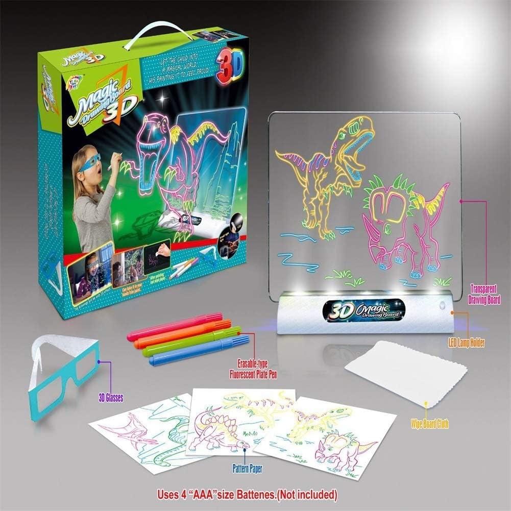 Dibujar con Luz Juguetes,Tablero De Dibujo 3D Pizarra Magica for ...