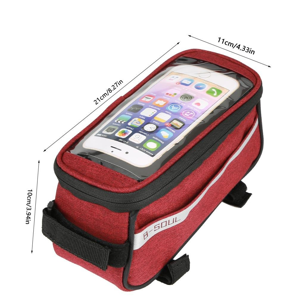 Zetiling Bike Phone Bag Waterproof Perfect for Storage Sunglasses Cellphone and Purse Have External Headset Jack Suitable for Women Men