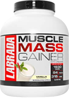 Labrada Nutrition Muscle Mass Gainer, Vanilla, 6 lbs