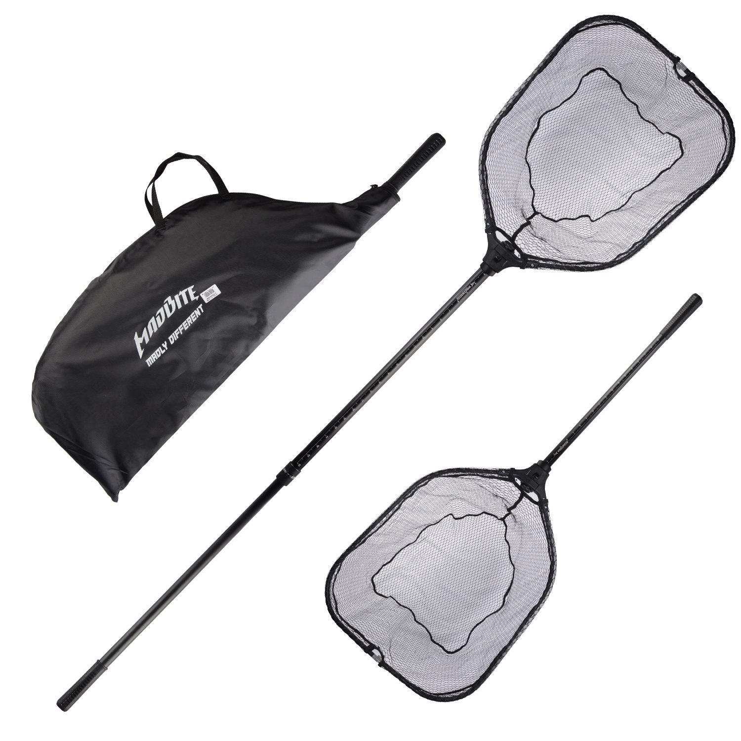 KastKing Madbite Folding Landing Nets - Super Strong, Easy to Carry Store,as Strong as Heavy Duty One-Piece Landing Net