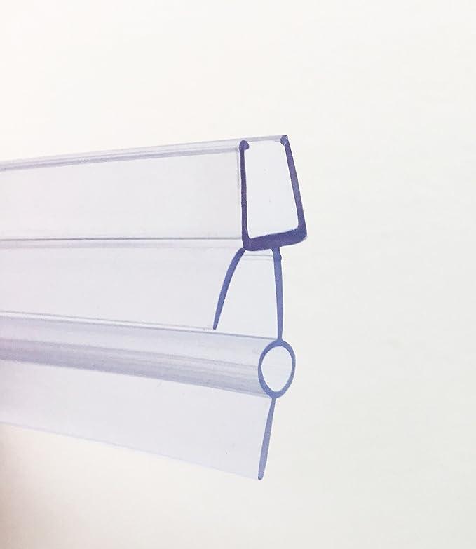 Soporte de goma de plástico HNNHOME, para mampara de baño o de ducha o puerta de cristal, de 4-6 mm; sellado transparente, 87 cm de largo, con agujero de 16 a 22
