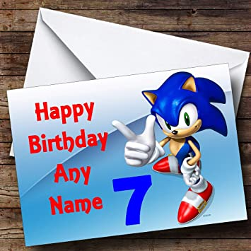 Personalised Sonic The Hedgehog Pointing Birthday Card Amazon