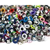 JETEHO 500Pcs Metal Eyelets, Mixed Colors 3mm Round Shape Eyelet Grommets for Scrapbooking Card Making Leather Craft…