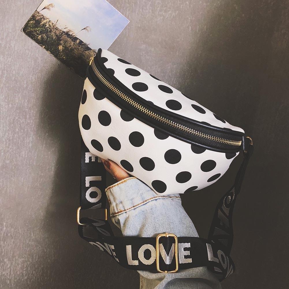 HOSPORT Women Fanny Pack Fashion Waist Bag Dots Crossbody Belt Bag