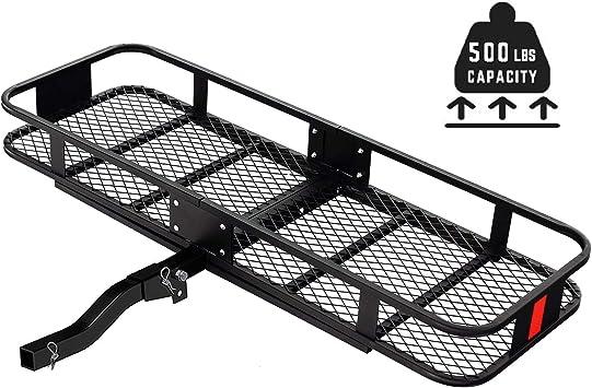 Capacity EA Curt Mfg Cargo Holder Basket-Style Steel Black Fixed Shank 500 lbs