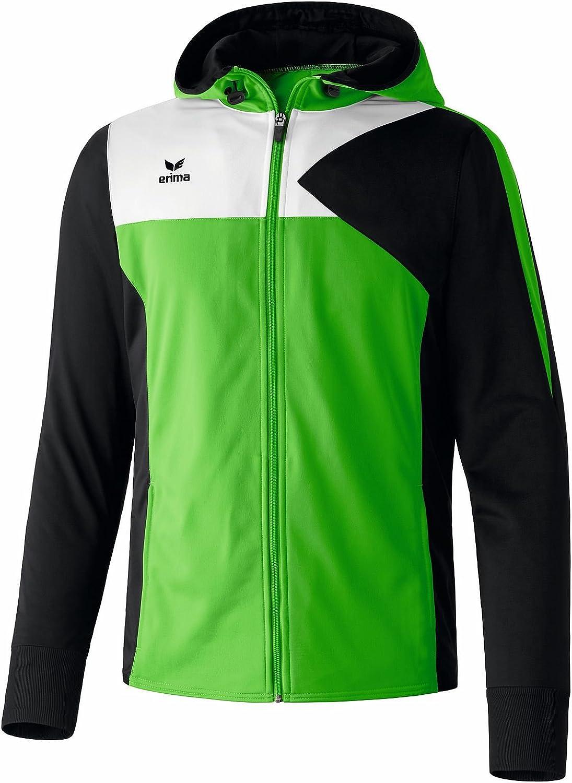 vert Noir Blanc  Erima Premium One Veste d'entraîneHommest à Capuche Enfant