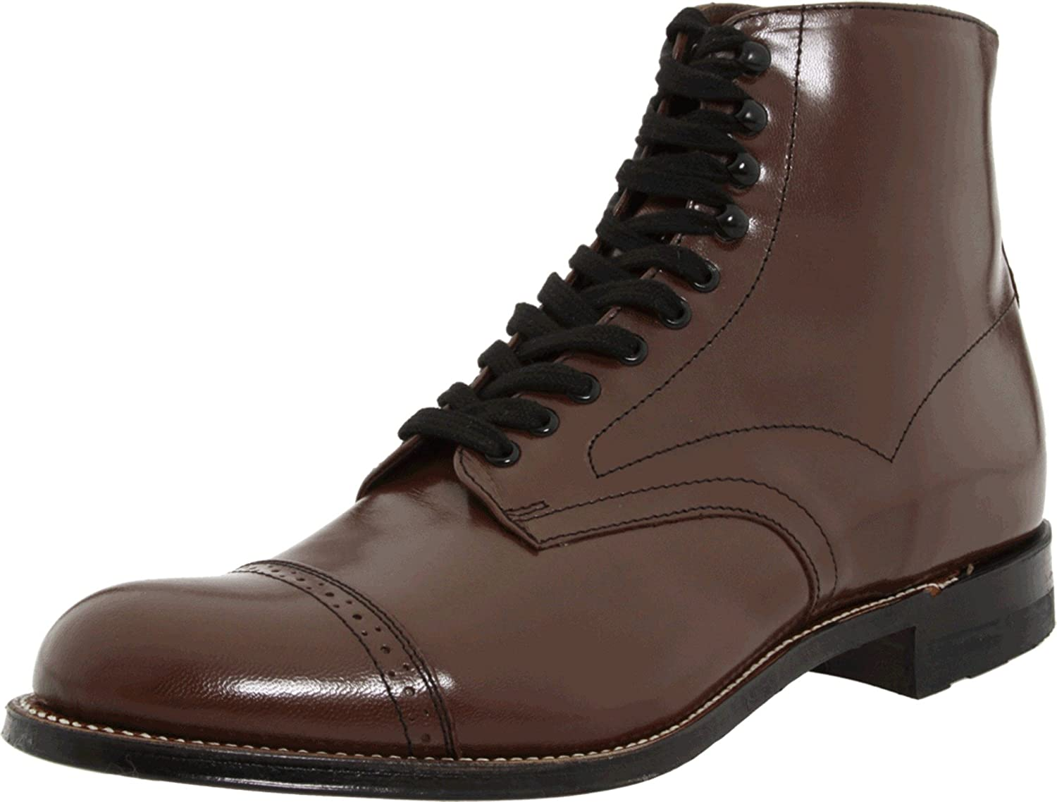Steampunk Boots and Shoes for Men UK Stacy Adams Mens Madison Cap Toe Boot £96.11 AT vintagedancer.com