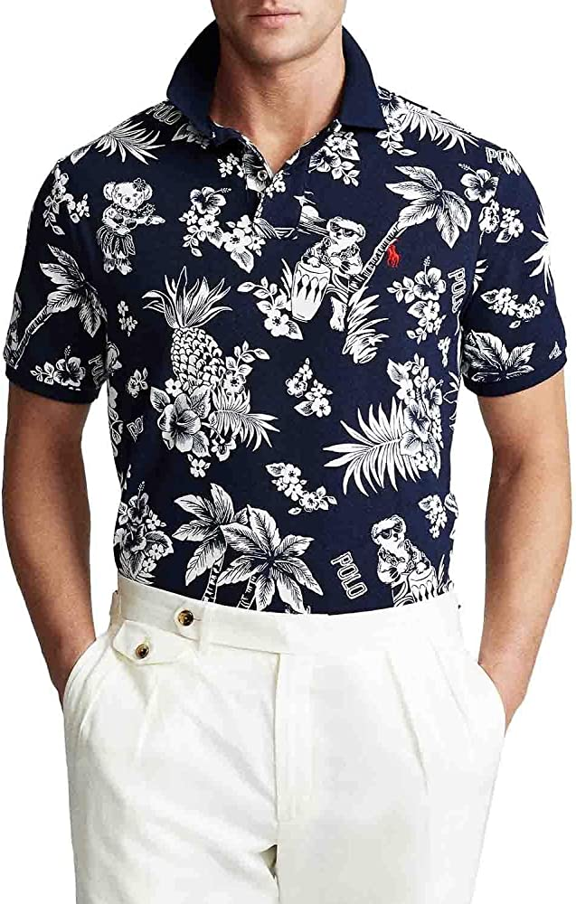 Polo Ralph Lauren Tropical Azul Hombre Small Blanco: Amazon.es ...