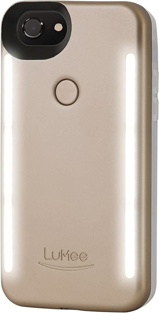 Amazon Com Lumee Duo Phone Case Gold Matte Front Back Led Lighting Variable Dimmer Shock Absorption Bumper Case Selfie Phone Case Iphone 8 Iphone 7 Iphone 6s Iphone 6 Ld Ip7 Goldmt