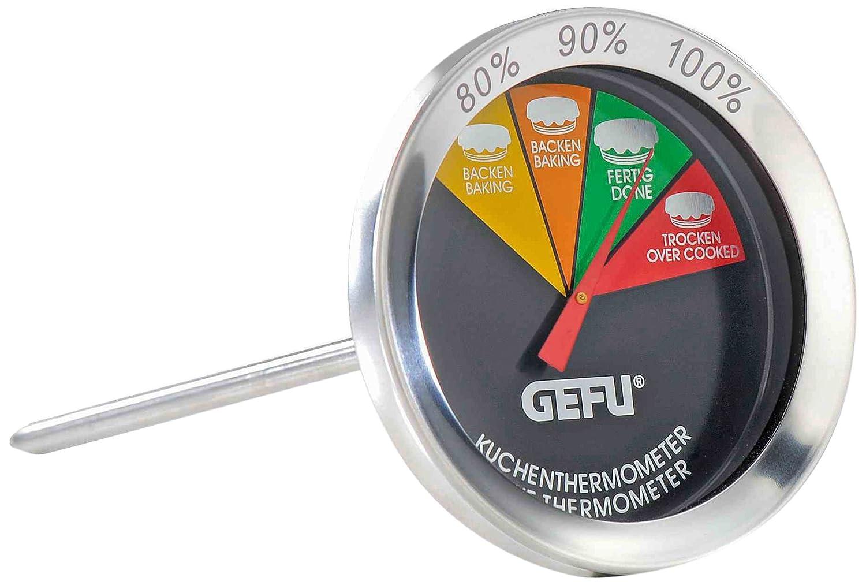 Gefu–Termómetro para horno Messimo, para pan, A ser insertado, acero inoxidable, 21810