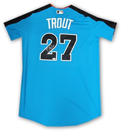 separation shoes 38a9d eddd7 Mike Trout Signed Autographed 2017 All Star Game Jersey ...
