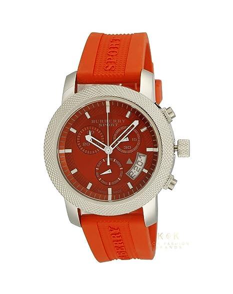 Burberry Sport BU7763 - Reloj cronógrafo suizo unisex de goma naranja para mujer, unisex: Amazon.es: Relojes
