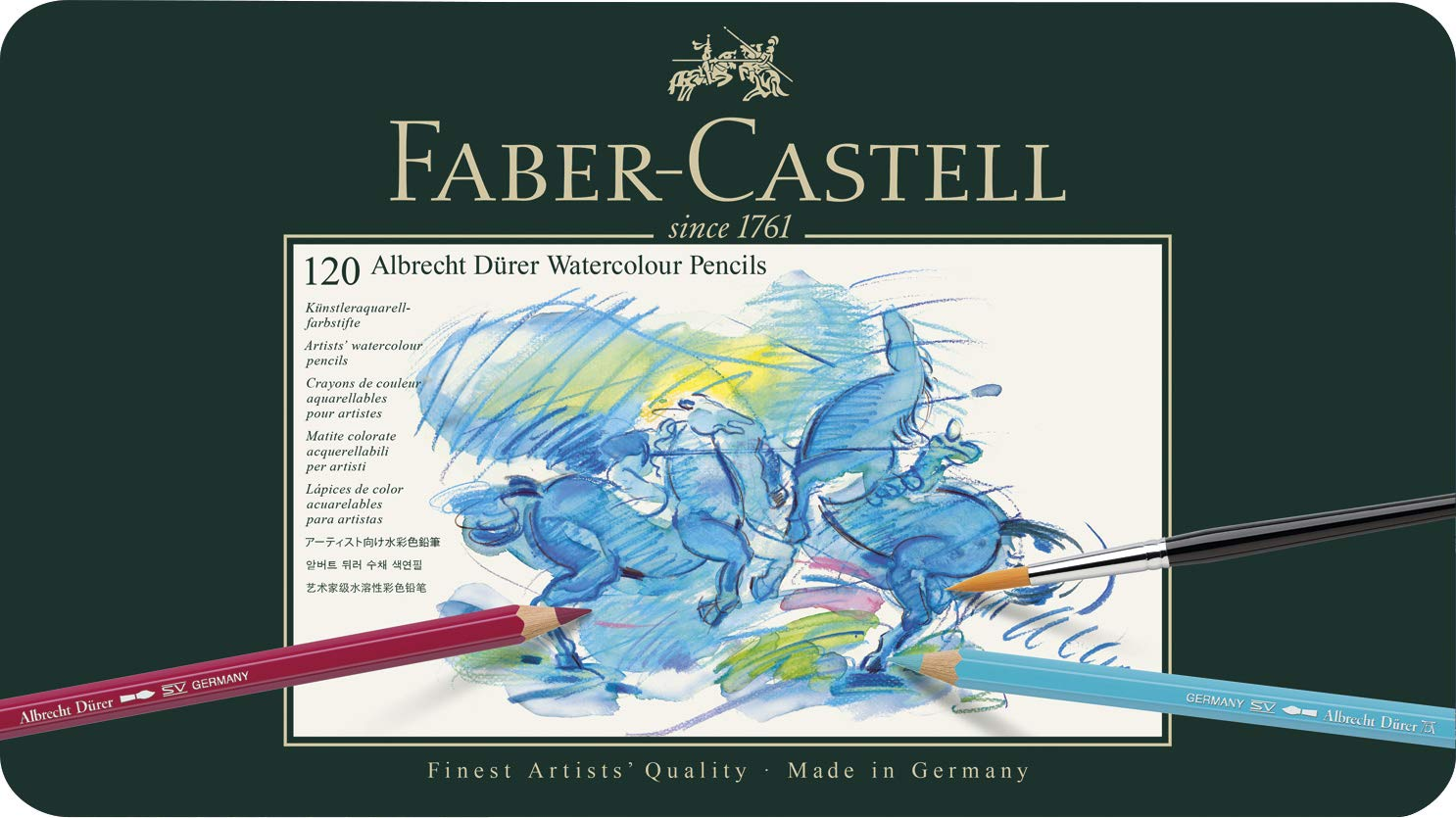 Albrecht Durer 120 Watercolor Pencil Set Tin by Faber Castell