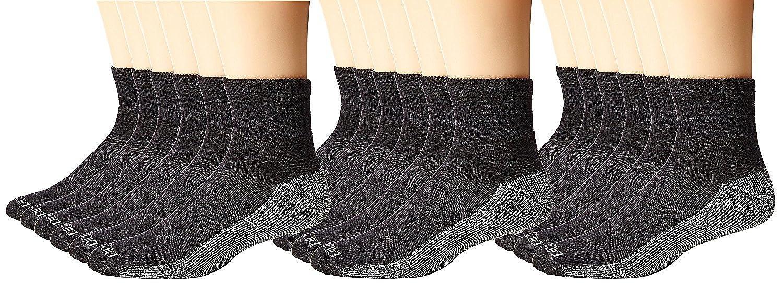 fe634c729 Dickies Men's 6 Pack Dri-Tech Comfort Quarter Socks, Black, 18 Pair at  Amazon Men's Clothing store: