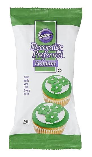 Wilton Decorator Preferred Ready To Use Fondant Cake Icing Green 250 g