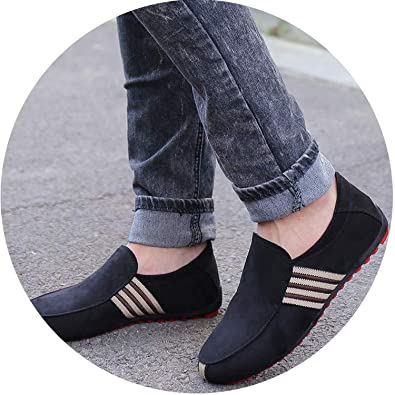 New Fashion Men/'s Flats Moccasin Loafer Casual Driving Suede Slip On Shoes 2019