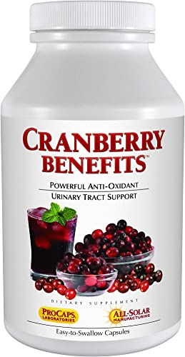 Andrew Lessman Cranberry Benefits 30 Capsules Supports Bladder, Kidney and Urinary Tract Health. High Potency Standardized Concentrate of Cranberry Fruit, Small Easy to Swallow Capsules