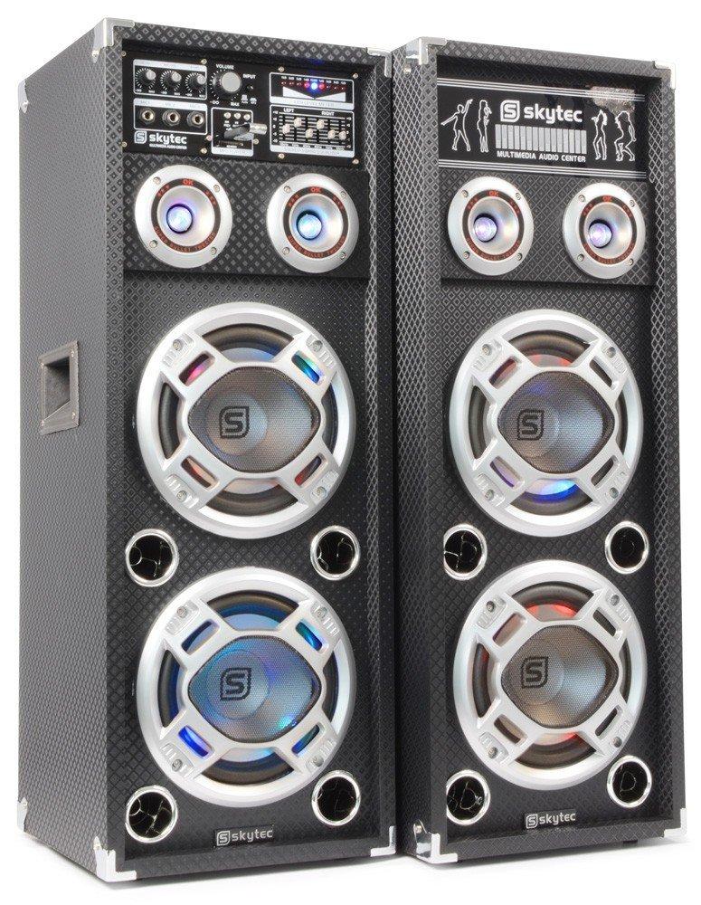 TALLA 600W - 2 Etagen. Skytec KA-28 - Kit bafle karaoke con luces