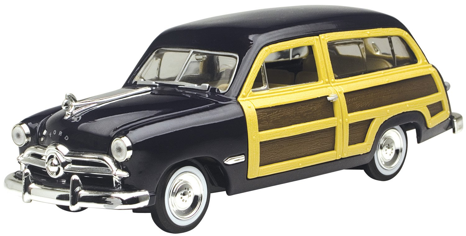 1949 Ford Woody Wagon Black 1 24 Diecast Car Model