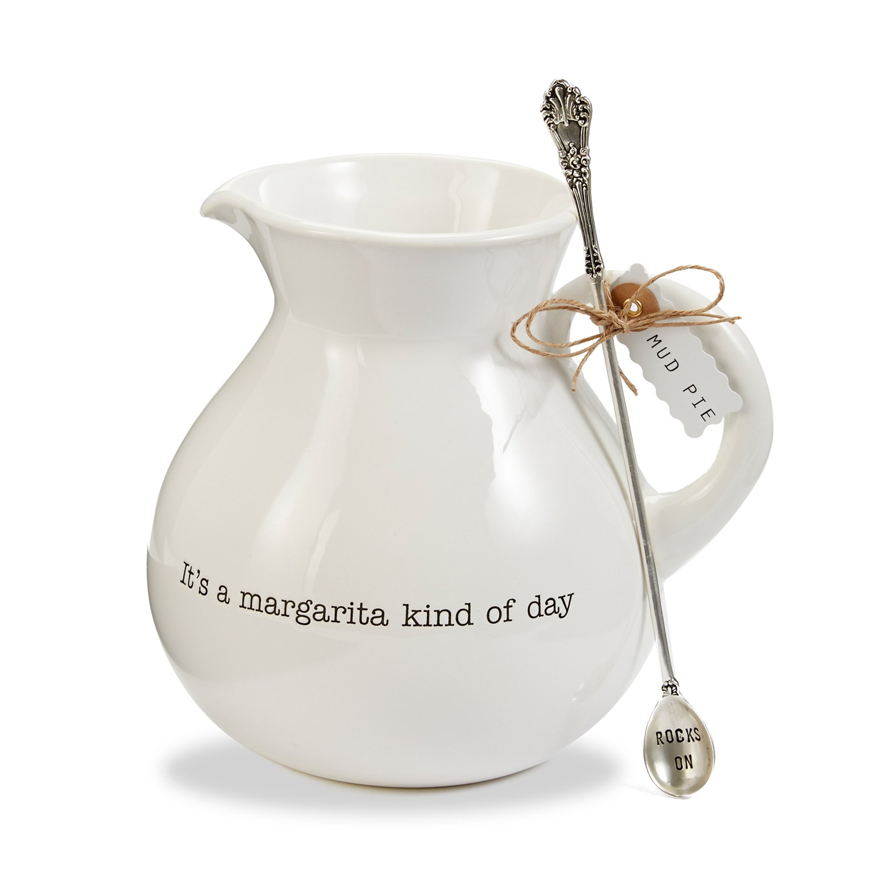Mud Pie 4551025 Margarita Pitcher, White by Mud Pie (Image #2)