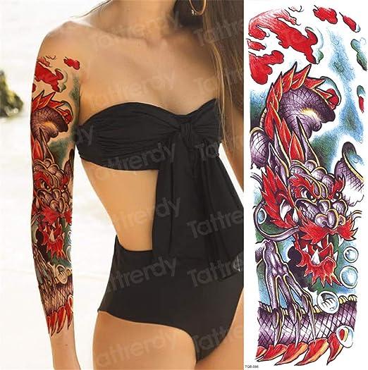 tzxdbh 3 Unids-Tatuaje Manga patrón Tatuajes Manga Larga Tatuaje ...