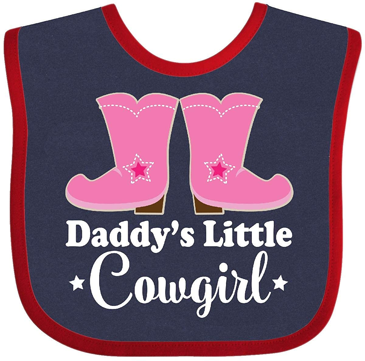 Inktastic Daddy/'s Little Cowgirl Baby Bib Boots Pink Cowboy Western Cute Girls