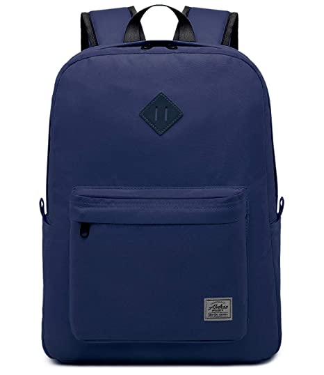 83f4440e9e7f Abshoo Classic Basic Lightweight Backpack for School Water Resistant Casual  Daypack Backpacks Bookbag (Navy)