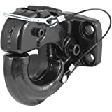 CURT 48215 Pintle Hook Hitch 30,000 lbs, Fits 2-1/2 to 3-Inch Lunette Ring, Mount Required