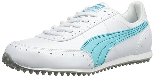 Puma Womens Cat W Golf Shoes 185836-04 White Blue 4.5 UK ac7c06746