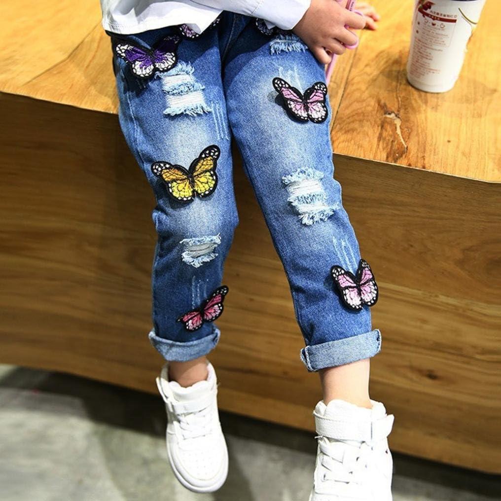 Paolian Pantalones Para Bebe Ninas Otono Invierno Pantalones Vaqueros Agujero Azul Largas Costura Mariposa Bodies Ropa Para Bebe Recien Nacidos Bautiz De 12 Meses 18 Meses 24 Meses 3 Anos 4 Anos