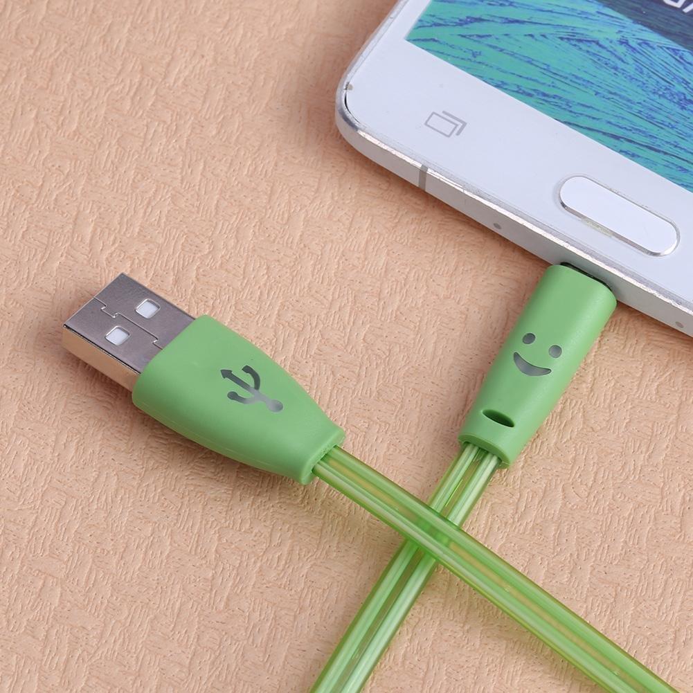 Licht Led Usb Charge Daten Kabel Für Samsung Nokia Htc Xiaomi V8 Lade Daten Draht Kostenloser Versand Unterhaltungselektronik Datenkabel