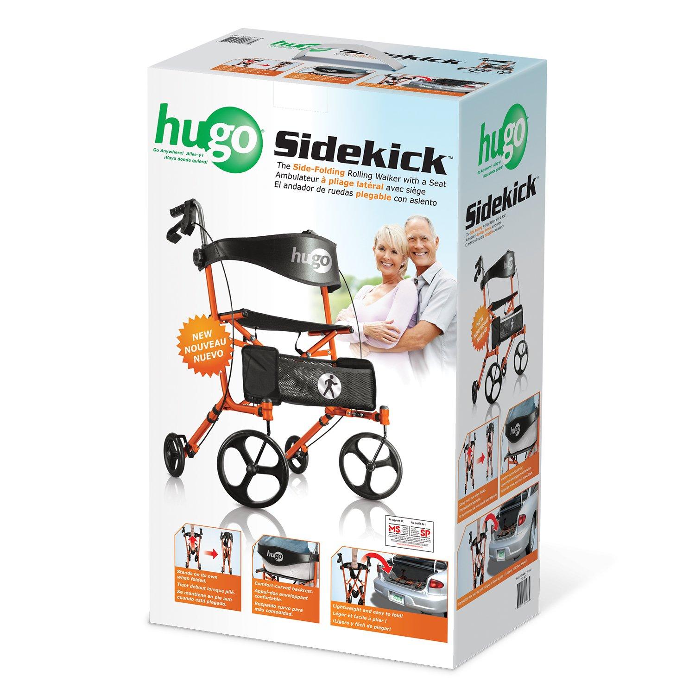 Amazon.com: Hugo Mobility Sidekick side-folding Rollator ...
