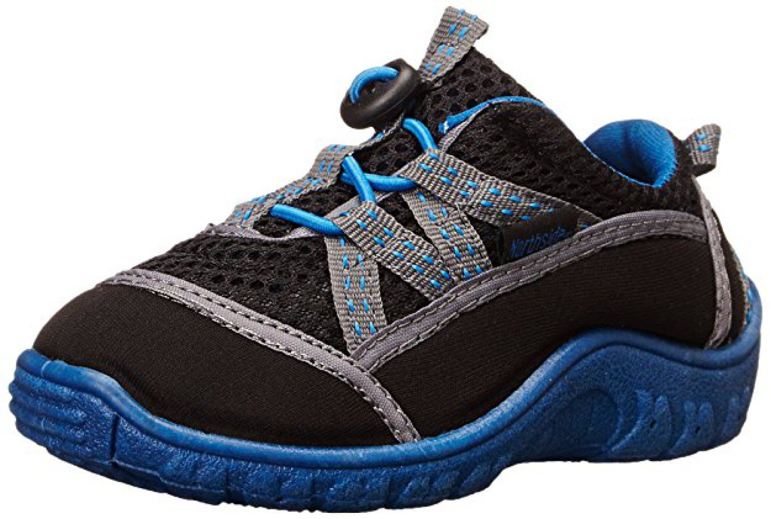 Northside Kid's Brille II Summer Water Shoe, Black/Blue, 6 M US Toddler; with a Waterproof Wet Dry Bag