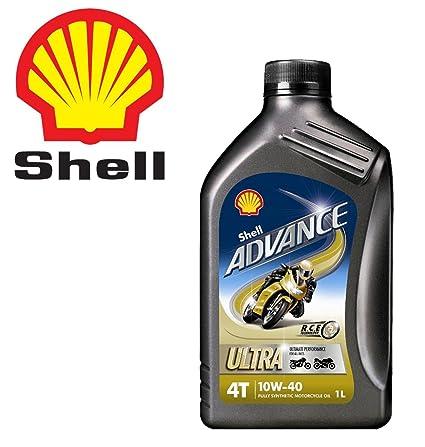Shell - Aceite ultra sintético Shell Advance 4T 10W-40 para ...
