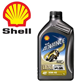 Shell - Aceite ultra sintético Shell Advance 4T 10W40, para moto o scooter, 4 litros: Amazon.es: Coche y moto