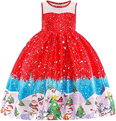 Dream Room Dresses Toddler Infant Kids Baby Girls Sleeveless Bowknot Floral Print Dresses Party