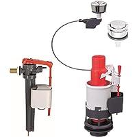 "Wirquin MW2 Kit Kabel Operated Waterbesparing Mechanisme Dual Flush Valve +Jollyfill Inlaat Float Valve 3/8 ""Messing"