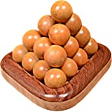 The Mind Challenge Wooden Ball Pyramid Puzzles/Puzzle Game (6 Parts)