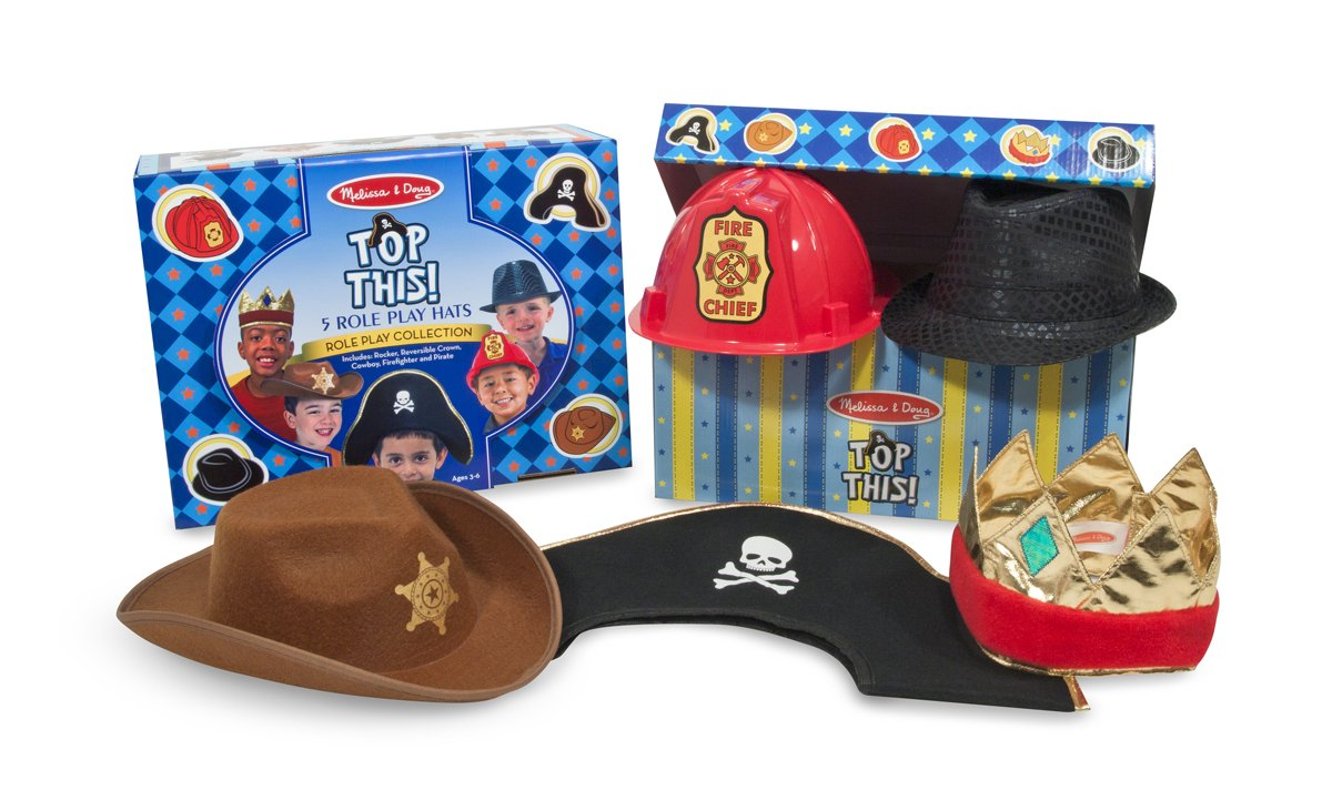 Melissa & Doug Dress-Up Hats, Pack of 5