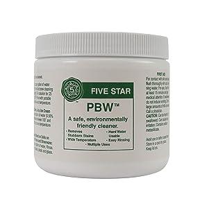 Five Star PBW Cleaner (Powdered Brewery Wash), 4-Pound Jar