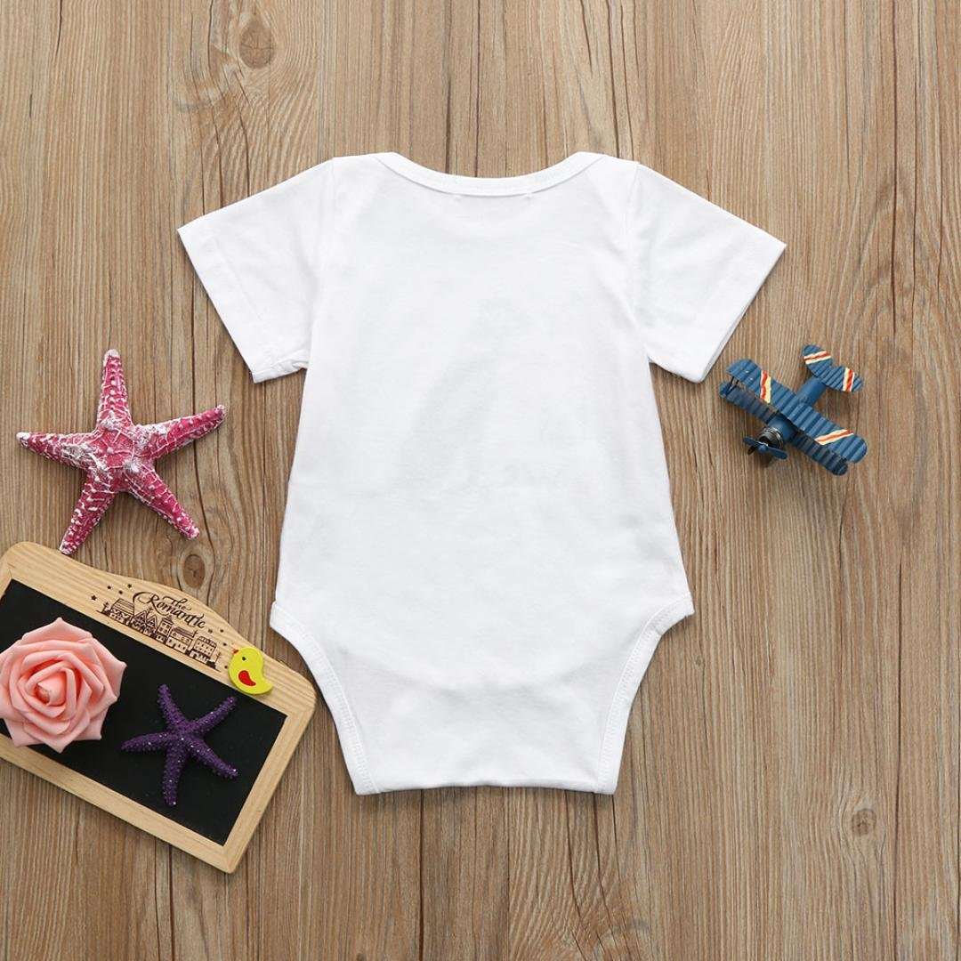 LuckyBB Toddler Infant Baby Boys Girls Letter Dog Romper Jumpsuit Clothes Outfits