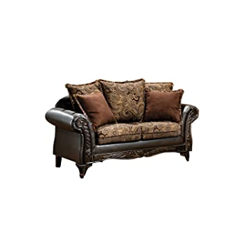 Amazon.com: Furniture of America Inigo Fabric and ...