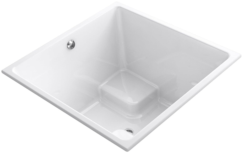 Kohler K-1968-0 Underscore Cube Drop-in/Undermount Bath, White ...
