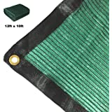 Didaoffle 70% Sunblock Shade Net Green UV Resistant, Premium Heavy Duty Mesh Tarp, Top Shade Cloth Quality Panel for Garden, Flowers, Plants, Patio Lawn, Customized Sizes Available (12ft x 10ft)
