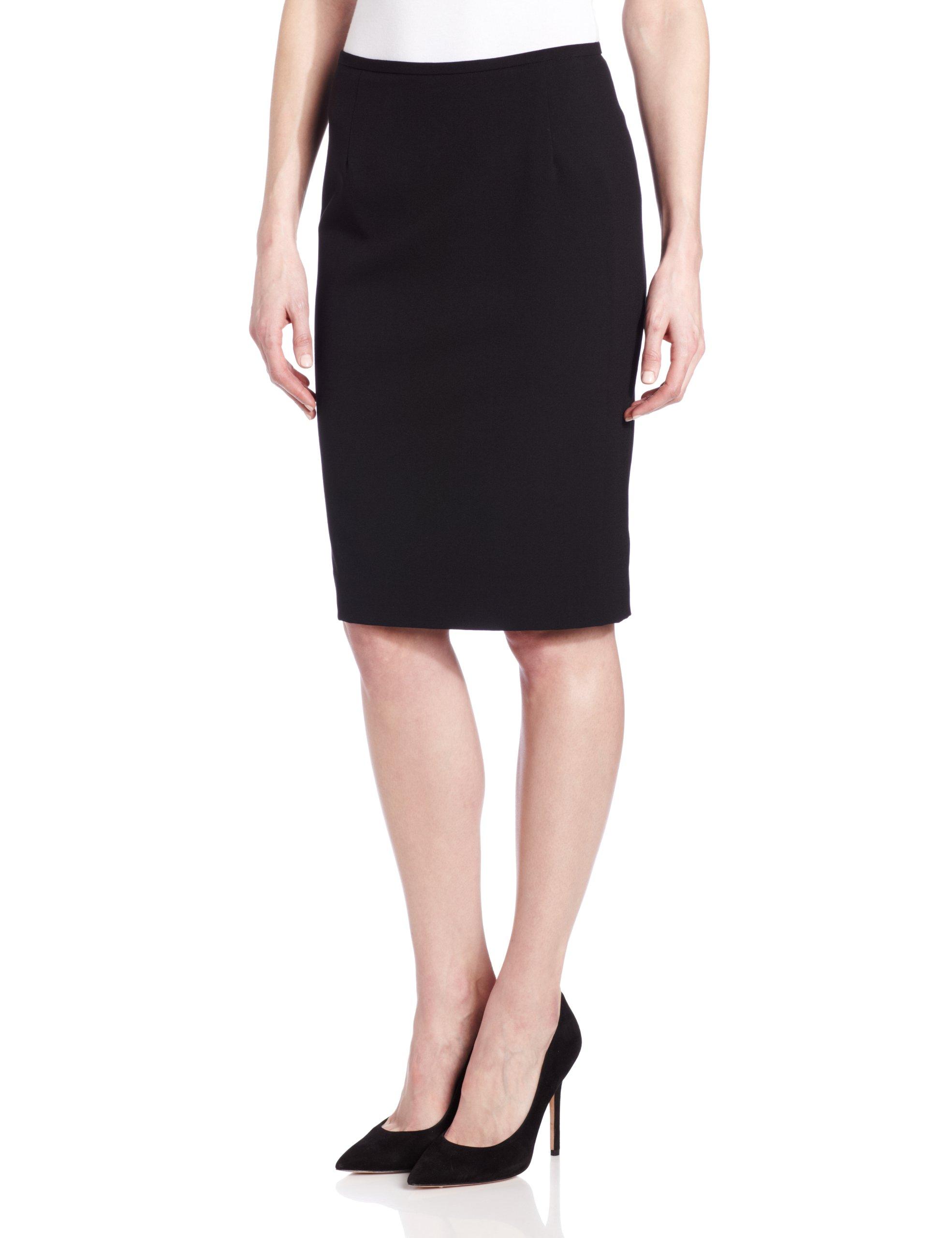 Calvin Klein Women's Lux Stretch Pencil Skirt,Black,16